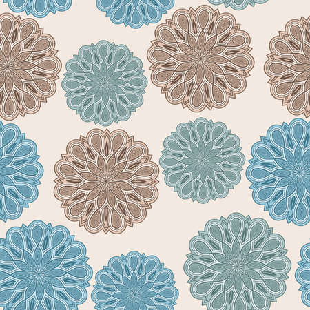 seamless floral  pattern with bizarre flowers Vector