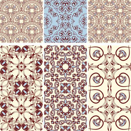 Tapete Orientalisches Muster sechs nahtlose muster im orientalischen stil können als hintergrund
