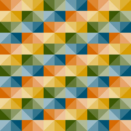 seamless simple geometric pattern with 3d illusion Vector