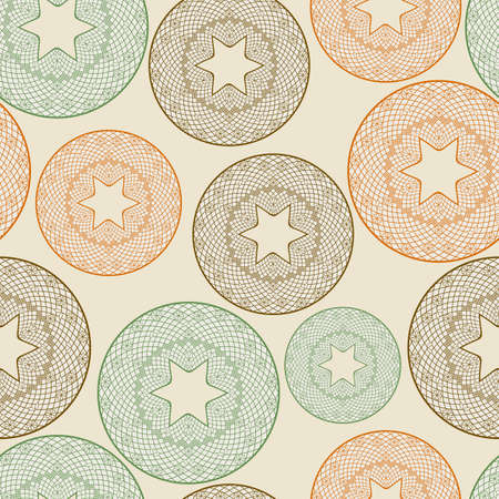 seamless pattern with lacy balls,  you can use it as background, pattern or wrapping paper Vector