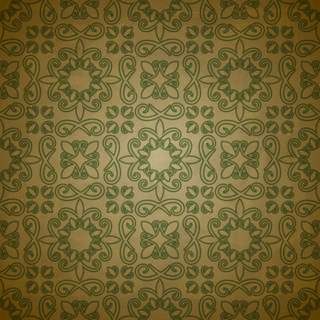 seamless floral  pattern on  grungy background with crumpled paper texture Vector