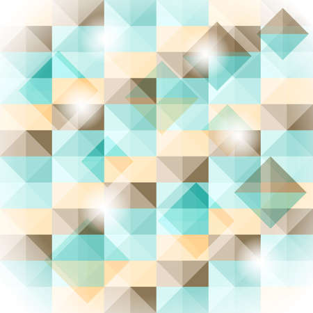 vector seamless simple geometric pattern with 3d illusion Vector
