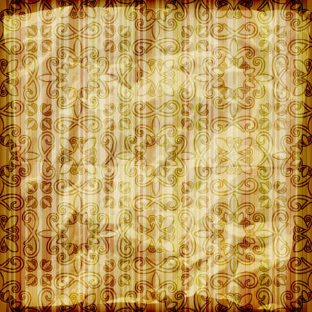 east indian: seamless abstract wallpaper on striped background,  crumpled burning paper texture