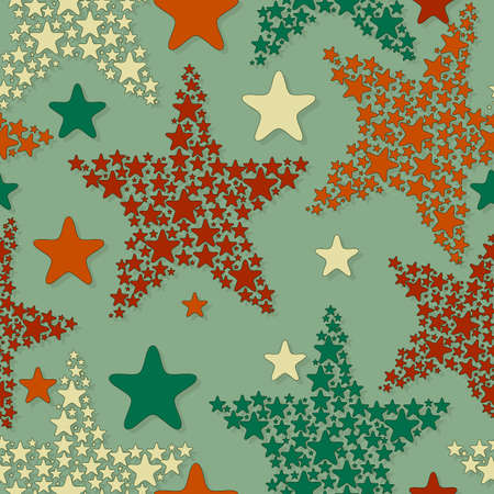 seamless pattern with christmas stars Vector