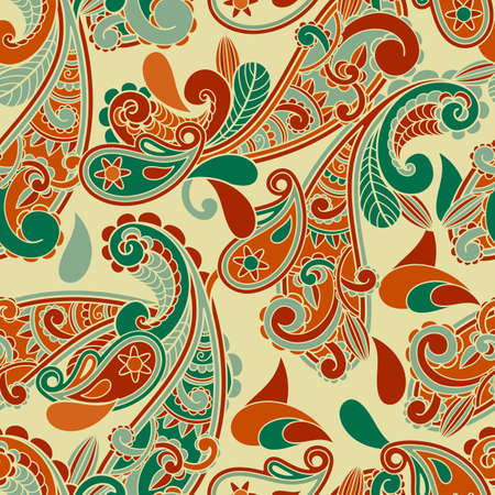 asian: seamless paisley  pattern