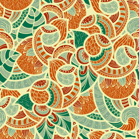 seamless ethnic doodle  pattern, fully editable Vector