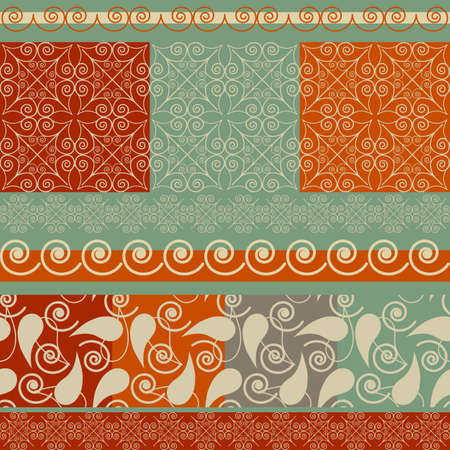 vector  set of Christmas patterns and borders Vector