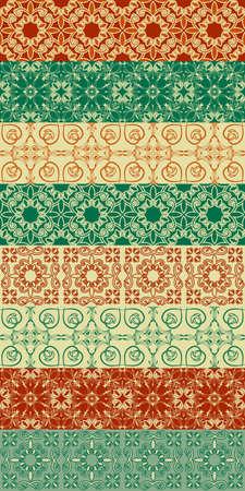 Eight vector seamless patterns Vector