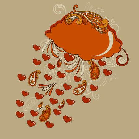 drench: nube roja con corazones lluvia, totalmente editable presentar