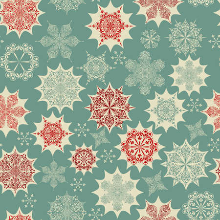 wrapping paper:  Seamless Winter Pattern with Snowflakes