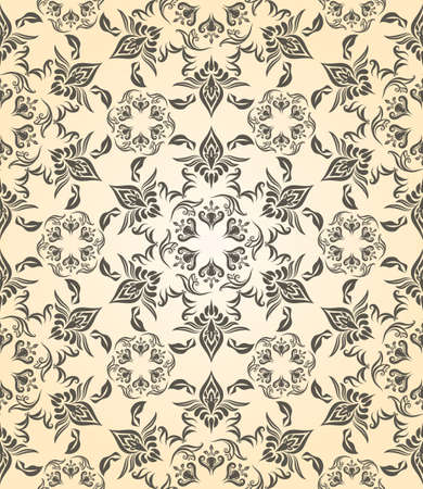 rococo: vector vintage seamless floral pattern