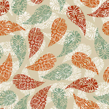 vector paisley vintage seamless floral pattern Illustration