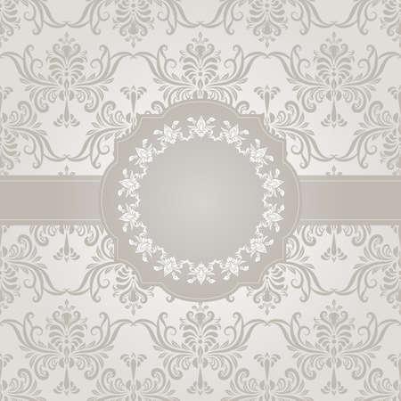 arabesco: vector seamless wallpaper de la vendimia en el fondo del gradiente y el marco para el texto