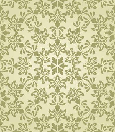 vector seamless vintage wallpaper pattern on gradient background