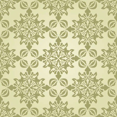 vector seamless vintage wallpaper pattern on gradient background Vector