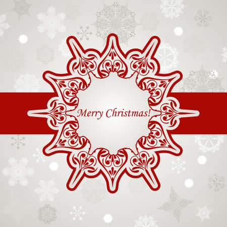 Vector Christmas Greeting Card with Snowflakes, Place for your text Vector