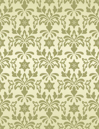 vector seamless vintage wallpaper pattern on gradient background, fully editable eps 8 file with clipping mask and pattern in swatch menu Stock Vector - 15683858