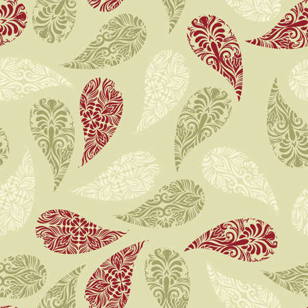 christmas wrapping: Vector  seamless paisley  pattern
