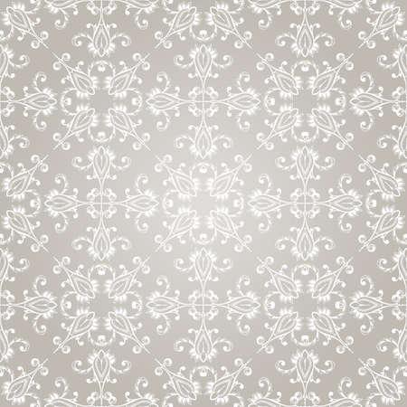 arabesque: seamless papel pintado de la vendimia en el fondo del gradiente Vectores