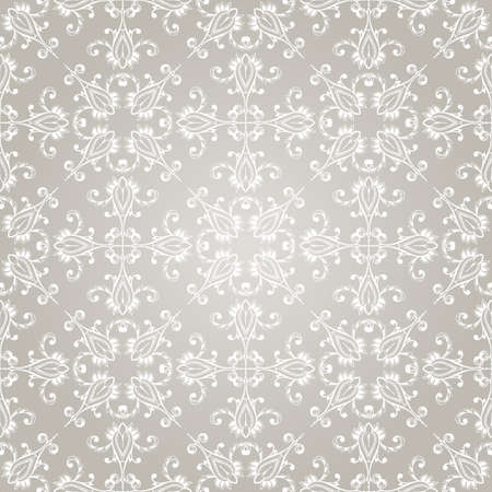 seamless vintage wallpaper pattern on gradient background Vector