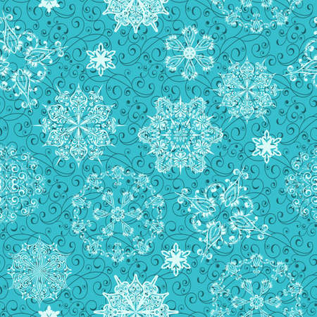 vector seamless christmas  retro  winter pattern, clipping mask Vector
