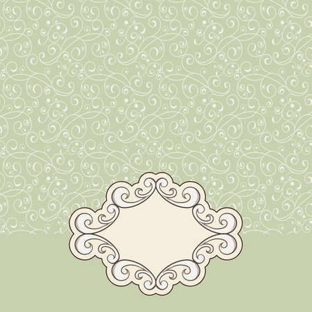 seamless pattern and floral frame for your text seamless patterns in swatch menu, Vector