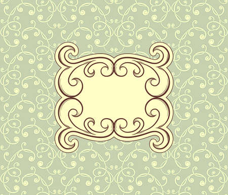 floral seamless vintage pattern with floral frame for your text Vector