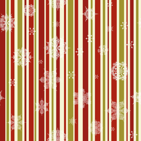 vintage Christmas seamless pattern with  snowflakes, seamless pattern in swatch menu Vector
