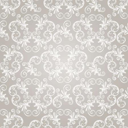 naadloze vintage behang patroon op gradiënt achtergrond, Vector Illustratie