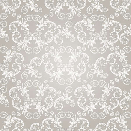 seamless vintage wallpaper pattern on gradient background,  Vector