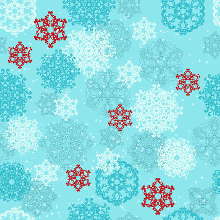 seamless pattern with  highly detailed   snowflakes Stock Vector - 16520115