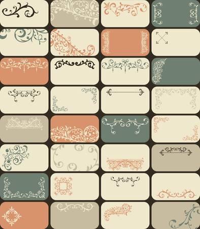 visitekaartje: 32 retro stijl visitekaartjes met unieke florale patronen