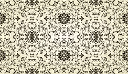 vector vintage highly detailed seamless patten with hexagon  snowflakes Vector