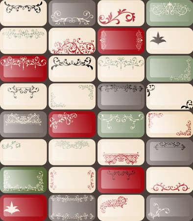 32 vector retro estilo tarjetas de negocios con exclusivos diseños florales