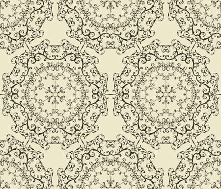 seamless  vintage  highly detailed hexagon  patterne, fully editable, pattern in swatch menu Stock Vector - 16814352