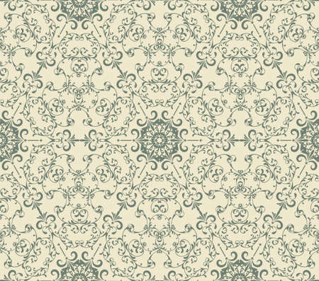 seamless  vintage seamless   pattern with  highly detailed hexagon snowflakes, fully editable, pattern in swatch menu Vector