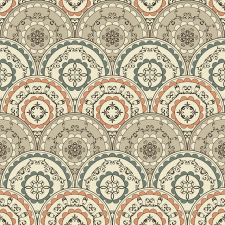 seamless vintage oriental wallpaper pattern, fully editable ,fully editable with clipping mask and seamless pattern in swatch menu Stock Vector - 16814355