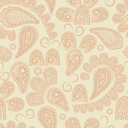 vector seamless  pattern with highly detailed paisley elements, indian oriental style,  fully editable eps 8 file with clipping masks and pattern in swatch menu Stock Vector - 17425212