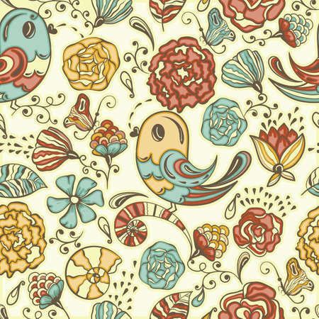seamless spring pattern, fully editable  , seamless  pattern in swatch menu Stock Vector - 17599733