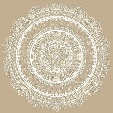 Vector  vintage white lacy napkin, seamless lacy  brushes included, fully editable eps 8 file Vector