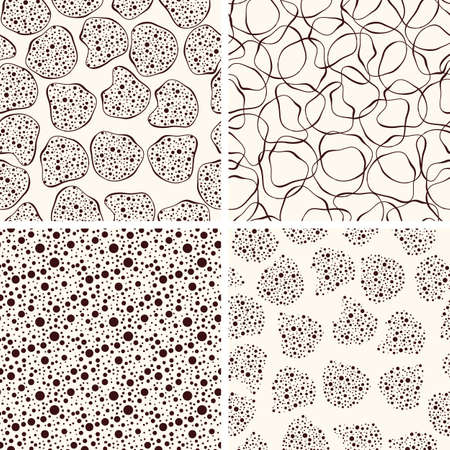 paiting: 4 Vector seamless funky patterns,  fully editable eps 8 file with clipping masks and seamless patterns in swatch menu