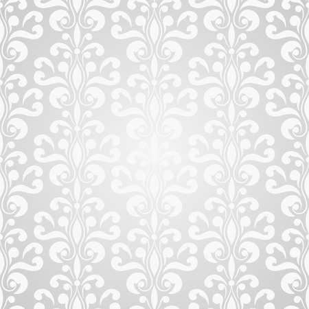 vector seamless floral wallpaper pattern on gradient background Vector