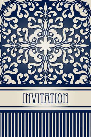 vector vintage invitation Stock Vector - 18017023