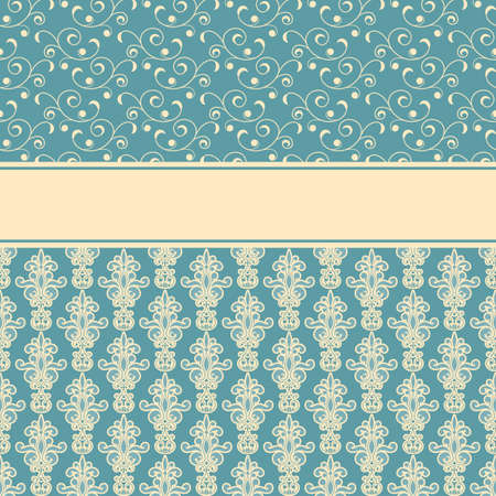vector card, fully editable eps 8 file,seamless patterns in swatch menu Stock Vector - 18145714
