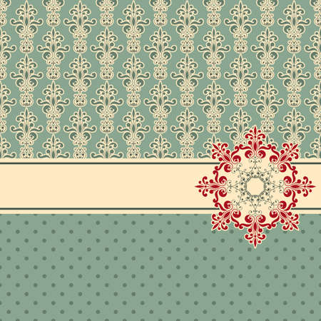vector greeting card, fully editable eps 8 file,seamless patterns in swatch menu Vector