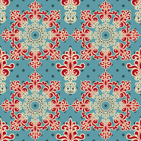 vector seamless floral wallpaper pattern, fully editable eps 8 file,seamless patterns in swatch menu Stock Vector - 18145715