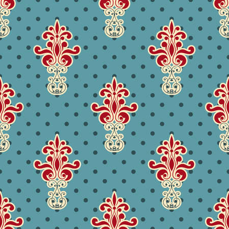 vector seamless floral wallpaper pattern, fully editable eps 8 file,seamless patterns in swatch menu Stock Vector - 18145709