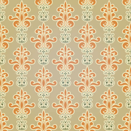 vector seamless floral wallpaper pattern, fully editable eps 10 file,seamless pattern in swatch menu Stock Vector - 18371270