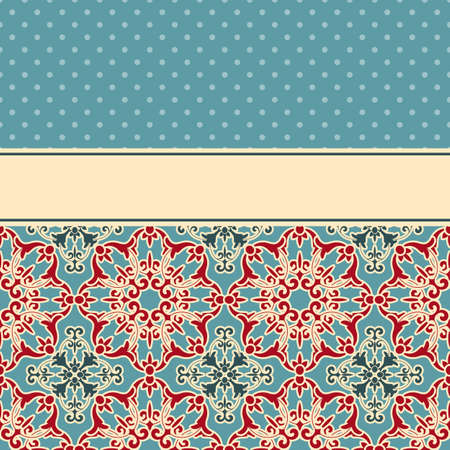 vector card with seamless floral wallpaper pattern , fully editable eps 8 file,seamless patterns in swatch menu Vector