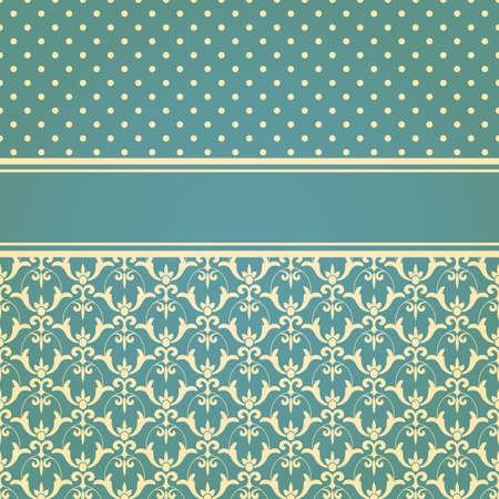 papel tapiz: tarjeta de invitaci�n vector con el modelo incons�til floral fondo de pantalla, totalmente editable eps 10 archivos, patrones de costura en el men� de muestra